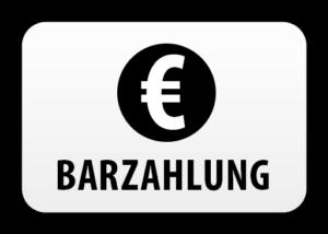 Zahlungsmöglichkeit: Bar